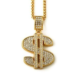 Other - Money Sign $ Iced Out Hip Hop Jewelry Punk Bling $